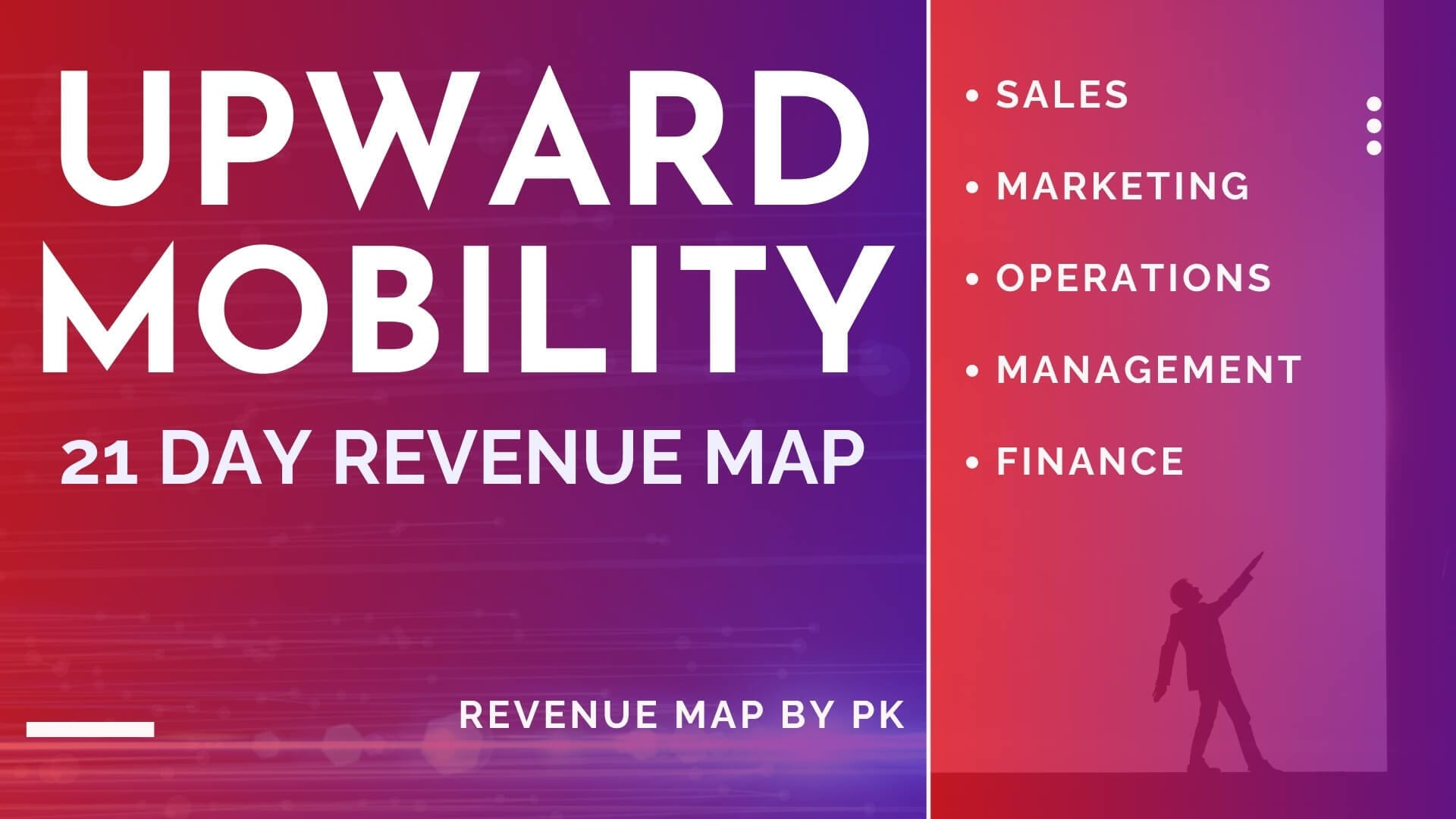 Upward Mobility 21 day revenue map by pk teaching sales marketing operations management and finance